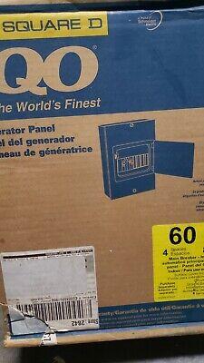 Square D Qo 4-8m60dsgp Indoor Generator Panel 60a 4 Spaces 8 Circuits Ul