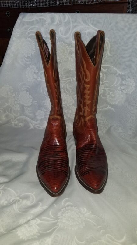 Justin, Mens, Brown, Leather/Lizard, Skin, Cowboy, Boots, Size, 10D, Style, 8301
