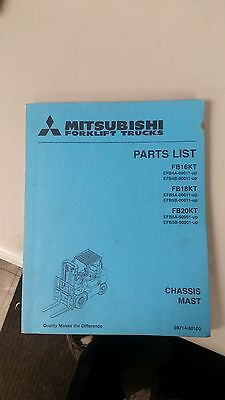 Mitsubishi Forklift Parts List Manual Fb16kt Fb18kt Fb20kt
