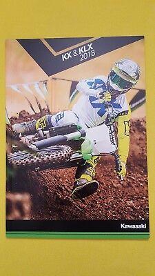 Kawasaki trials bike brochure KX85 I II KX65 KX450F KLX110 KLX450R 2018 MINT
