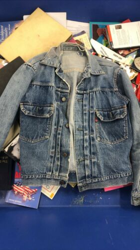 Vintage 50s LEVI'S Big E Type 2 Selvedge Denim Jacket Small/Medium