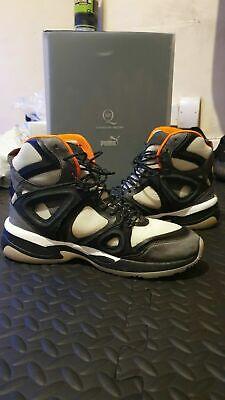PUMA x McQueen Mid Run High-Top Sneaker, White/Orange/Black Size 8