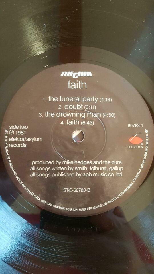 The Cure Lp Vinyl Faith in Eberswalde