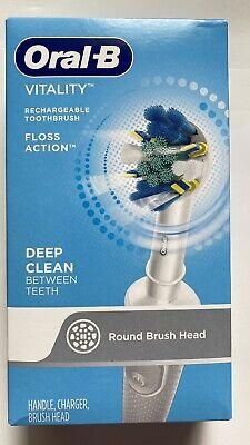 ओरल-बी विटैलिटी फ्लॉस एक्शन रिचार्जेबल बैटरी इलेक्ट्रिक टूथब्रश नया