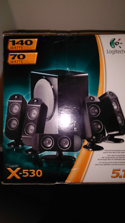 in box logitech x530 5.1 speaker system