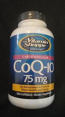 The Vitamin Shoppe Coq 10 75 Mg Cardiovascular Antioxidant 300 Capsules