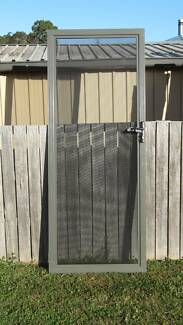 """Amplimesh"" Style Security Flyscreen Door Woodland Grey"