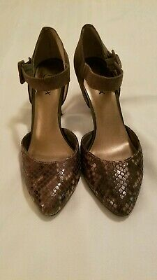 Moda Reflex Shoes - Gray with Snake Skin Design at Toe - Size 8M