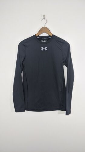 Under Armour Shirt Top Youth Fitted Cold Gear Long Sleeve Black XL