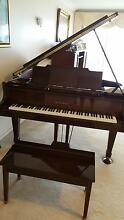 "Immaculate Oak/Walnut 5'9"" KAWAI grand piano !! Taringa Brisbane South West Preview"