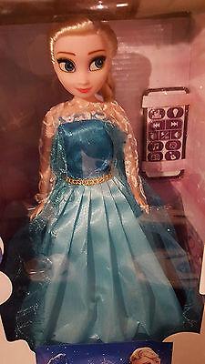 Frozen Elsa Eiskönigin /optik/ Puppe mit Licht und Musik + Fernbedienung NEU