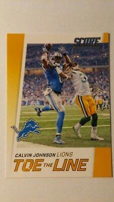 NFL Trading Card Calvin Johnson Detroit Lions Score 2016 Panini Toe the Line Calvin Johnson Nfl