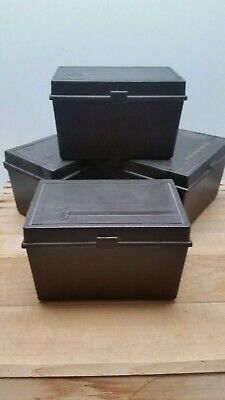 Lot Vintage 4 Day Timer Box File Organizer Cases Brown 7 X 4 12 X 4 34