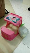 free plastic dora desk and bag of toys Hillside 3037 Melton Area Preview