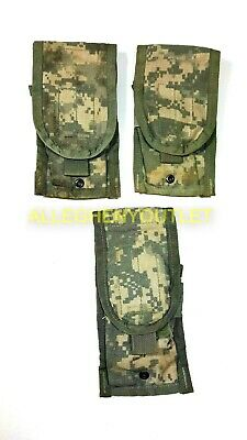 Lot of 3 - US Army Military ACU Double Mag Pouch, Double Magazine MOLLE VGC