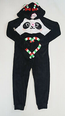 Panda Suits (NWT Justice Size 6/7 8 10 14/16 or 18/20 Soft Panda Christmas Union Suit)
