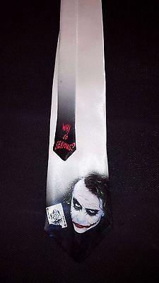 L@@K! The Joker Necktie - Joker Catwoman Bat Man Why so Serious? Heath Ledger - Joker Tie