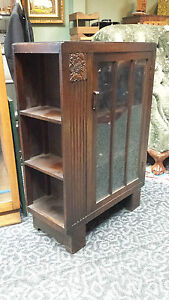 Art-Deco-Mission-Oak-Bookcase-with-sideshelves