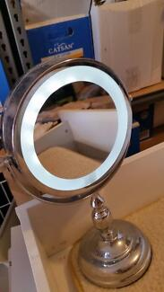 light up makeup mirror led beauty make up silver dressing table