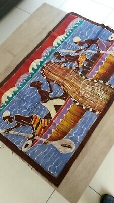 Beautiful Batik Fabric Ethnic Africa WEST Cote D'Ivoire Sinners IN Seam