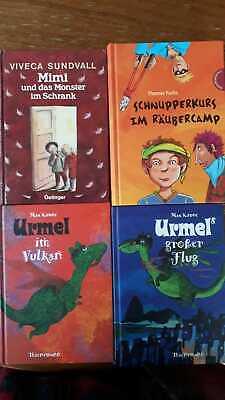4 Bücher für junge Leser, 2x Urmel-Bücher, 1xMimi, 1x Räubercamp, NEUWERTIG