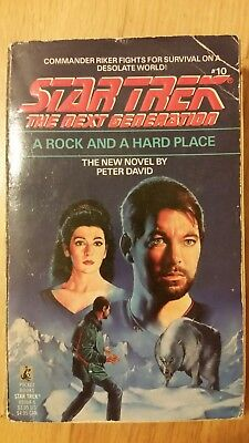 Star Trek: TNG: A Rock and a Hard Place by Peter David (1991, Paperback)