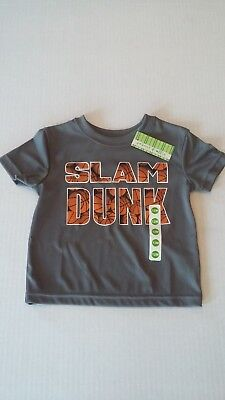 NEW Boys Slam Dunk Basketball Shirt by Peanut & Ollie Size 12 Months - Gray