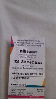 Ed Sheeran GA TICKET NIB STADIUM Woodbridge Swan Area Preview