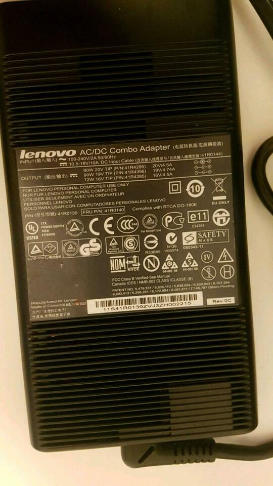 Lenovo 90W Ultraslim Netzteil Reisenetzeil AC/DC Combo Adapter in Dresden - Innere Altstadt