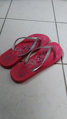 iPanema Ladies Pink and Silver Flip Flops Size 41/42 Eur (Size 8)