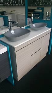 750, 900 , 1200 or 1500 Double Vanity FROM $550 Paradise Campbelltown Area Preview