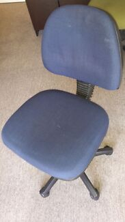 Blue computer chair Lithgow Lithgow Area Preview