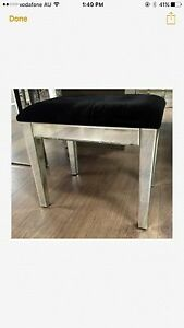 Mirrored stool with black velvet cushion Darlinghurst Inner Sydney Preview