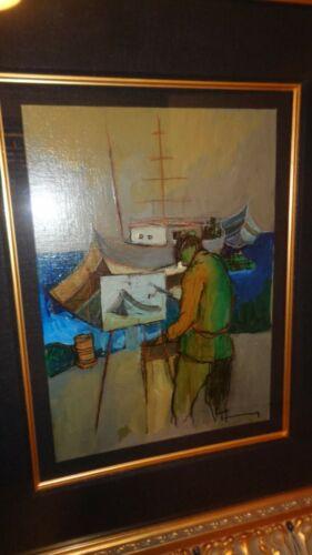HTF Tarkay Original Acrylic on Canvas - Rare Image