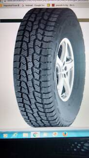 LANDCRUISER/PATROL 265X75X16 OR 275X70X16 TYRES. NEW FROM $125