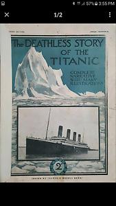 Vintage / Antique Titanic Magazine Lloyds Ballajura Swan Area Preview
