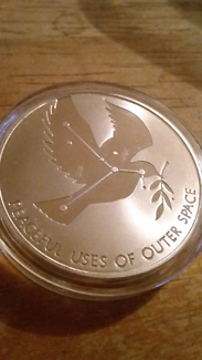UN Coin Peaceful Uses of Outer Space