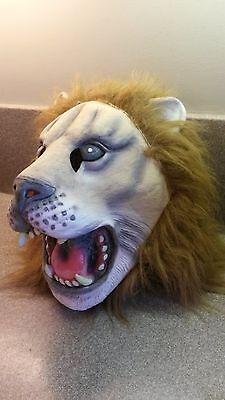 Life Like Masks Halloween (FULL HEAD RUBBER LATEX LION HALLOWEEN MASK)