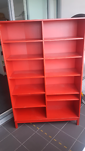 Bookcase Red Brookvale Manly Area Preview