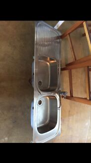 Double Sink with  mixer tap