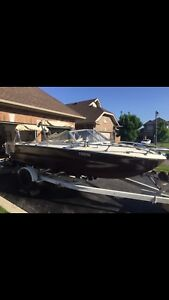17' tempest ss180 boat + trailer