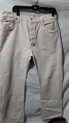 Men's Levis 501 Jeans 38X30 Button Up 100% Cotton  Light Tan