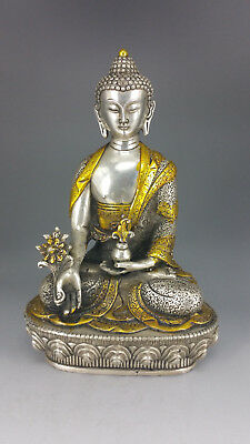 TIBET HEILBUDDHA, Medizinbuddha, Buddha, Gautama Buddhafigur, 20 cm [C29887]