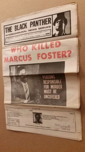 Black Panther Newspaper November 17, 1973 Marcus Foster cover