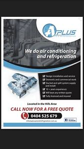 Ducted systems split systems Refrigeration installation and service