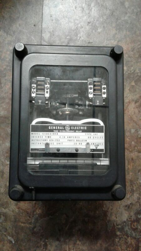GE Time Overcurrent Relay 121AC51B4A General Electric