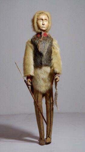 Antique Native Alaskan Sinew Sewn Doll - Inuit, Yup