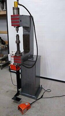 10 Ton C Frame Type Floor Press Enerpac Spx Power Team Hydraulic Pe182 Rc102