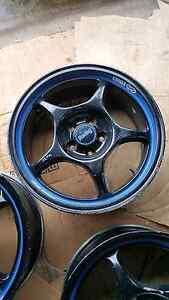 """Genuine set Enkei RP01 16"""" 5x100 Black jdm wheels rims Castle Hill The Hills District Preview"""