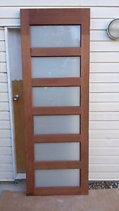 Solid hard wood entrance Door with glass inserts Upper Mount Gravatt Brisbane South East Preview